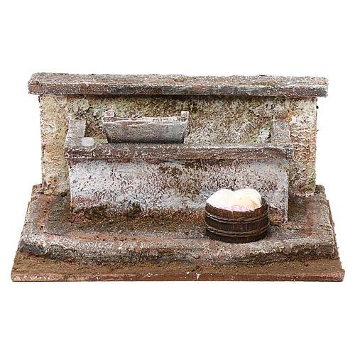 Lavandino con panni presepe 12 cm ambientazione 10x15x15 cm 1