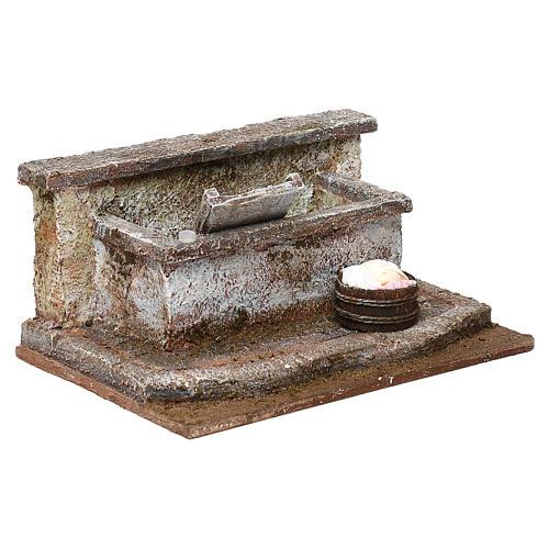 Lavandino con panni presepe 12 cm ambientazione 10x15x15 cm 4