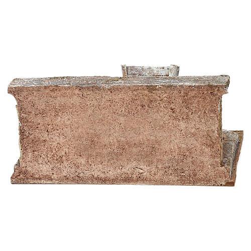 Lavandino con panni presepe 12 cm ambientazione 10x15x15 cm 5