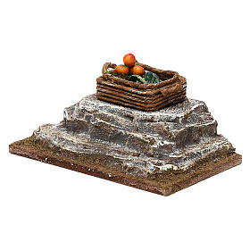 Cassetta su pietra presepe 12 cm ambientazione 6x12x6 cm s2