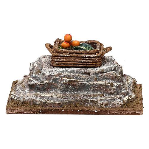 Cassetta su pietra presepe 12 cm ambientazione 6x12x6 cm 1
