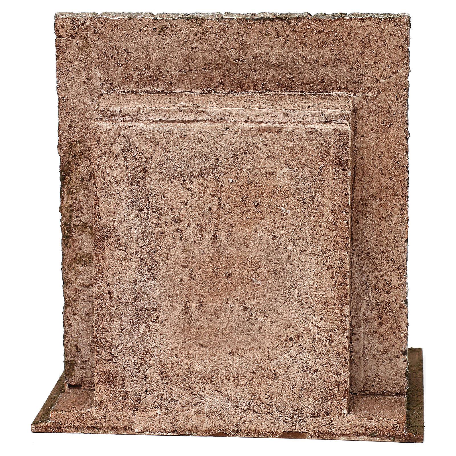 Maccheronaio presepe 12 cm ambientazione 25x25x20 cm 4