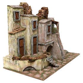 Borgo cittadino presepe 12 cm ambientazione 45x60x35 cm s3