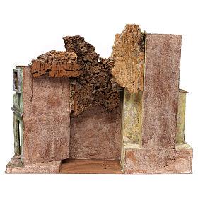 Borgo cittadino presepe 12 cm ambientazione 45x60x35 cm s4
