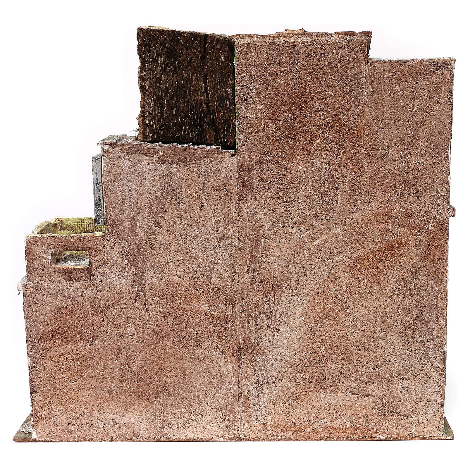 Gruppo di case presepe 12 cm ambientazione 45x50x25 cm  4