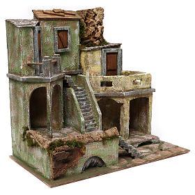 Gruppo di case presepe 12 cm ambientazione 45x50x25 cm  s3