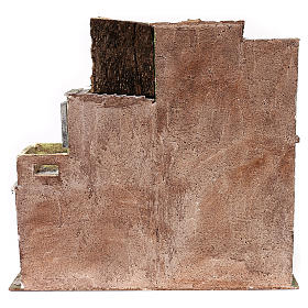 Gruppo di case presepe 12 cm ambientazione 45x50x25 cm  s4