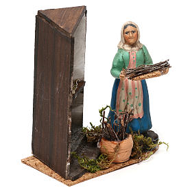 Woman by the fireplace for Neapolitan Nativity scene 8 cm s3