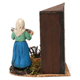 Woman by the fireplace for Neapolitan Nativity scene 8 cm s4