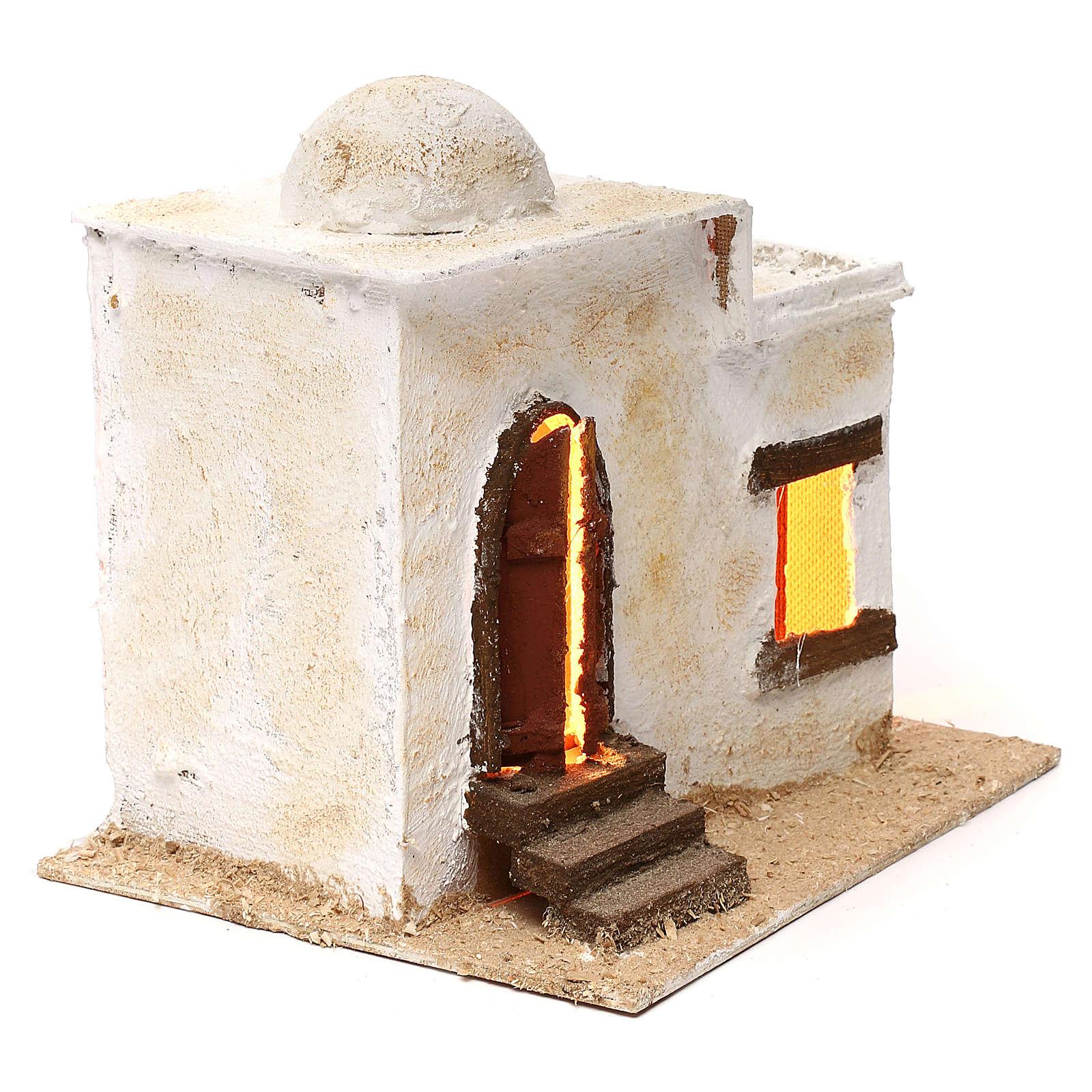 Casa araba porta con scalinata illuminata 20x25x20 4