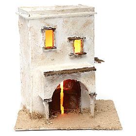 Presépio Napolitano: Casa árabe dois andares com pórtico 25x25x20 cm