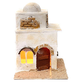 Presépio Napolitano: Casa árabe dois andares com cúpula 40x20 cm