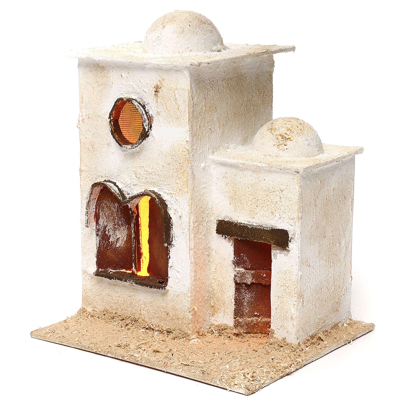 Casa araba in due parti con cupola e finestre ad arco 30x25x20 4