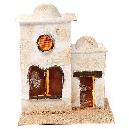 Casa araba in due parti con cupola e finestre ad arco 30x25x20 1