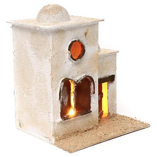 Casa araba in due parti con cupola e finestre ad arco 30x25x20 3