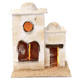Presépio Napolitano: Casa árabe em duas partes com cúpula e janela em arco 30x25x20 cm