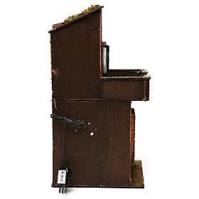 Casa in legno illuminata presepe napoletano stile 700 40x 20x20 cm s4
