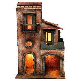 Presépio Napolitano: Casa em madeira 45x30x20 cm