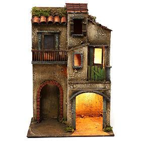Ambientazione doppio arco e porte finestrate 42x30x20 presepe napoletano s1