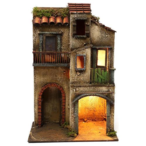 Ambientazione doppio arco e porte finestrate 42x30x20 presepe napoletano 1