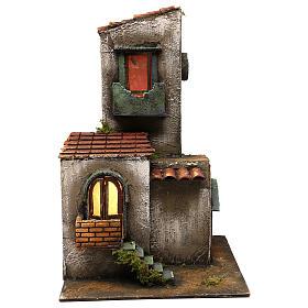 Presépio Napolitano: Casa com torre e escada