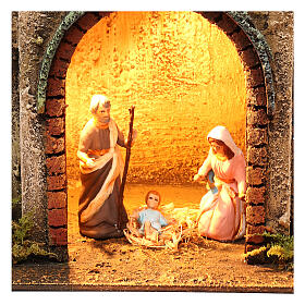 Scene for Neapolitan nativity with Holy Family 40x35x20 s2