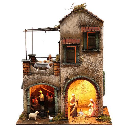 Scene for Neapolitan nativity with Holy Family 40x35x20 1