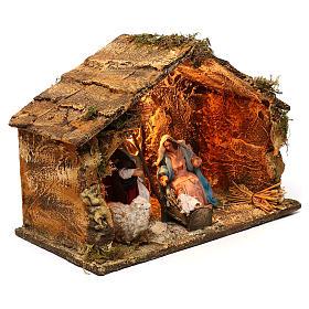 Neapolitan Nativity scene, Holy Family in stable 25x35x20 cm s4