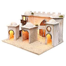 Borgo arabo con mura e cupole 30x50x40 cm presepe napoletano s2