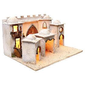Borgo arabo con mura e cupole 30x50x40 cm presepe napoletano s3