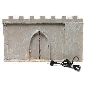 Borgo arabo con mura e cupole 30x50x40 cm presepe napoletano s4