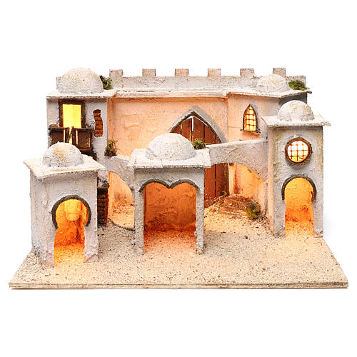 Borgo arabo con mura e cupole 30x50x40 cm presepe napoletano 1