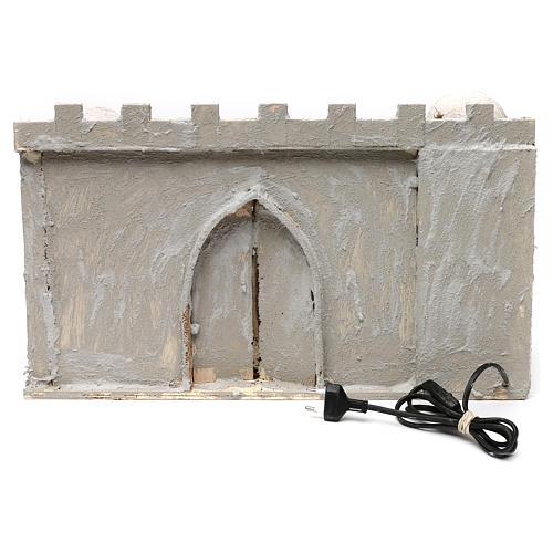 Borgo arabo con mura e cupole 30x50x40 cm presepe napoletano 4