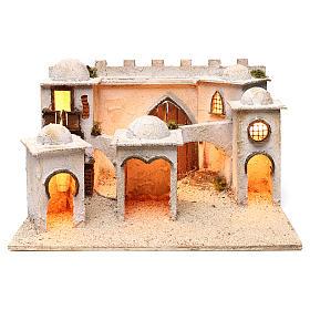 Presépio Napolitano: Aldeia árabe com paredes e cúpulas 30x50x40 cm presépio napolitano