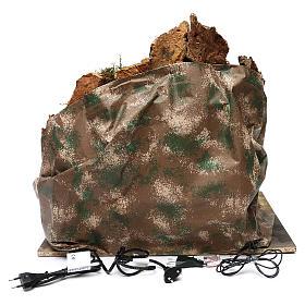 Borgo roccioso mulino e cascata 45x50x40 cm presepe napoletano s4