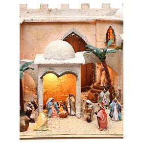Borgo arabo dimensioni 30x50x40 cm completo di personaggi presepe Napoli s4