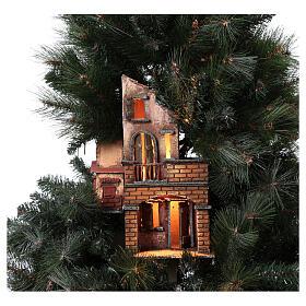 Neapolitan nativity Christmas tree village 150 cm 8 cm figures s4