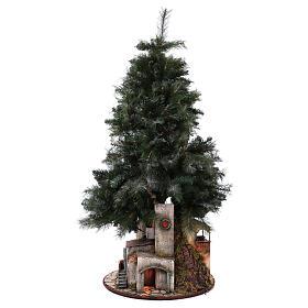 Neapolitan nativity Christmas tree village 150 cm 8 cm figures s5