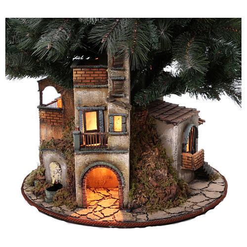 Neapolitan nativity Christmas tree village 150 cm 8 cm figures 2