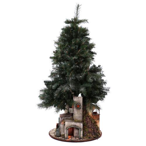 Neapolitan nativity Christmas tree village 150 cm 8 cm figures 5