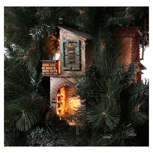 Neapolitan nativity Christmas tree village 150 cm 8 cm figures 6