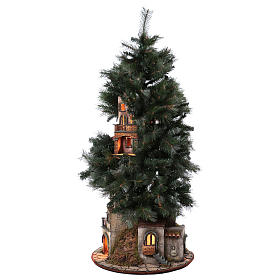 Presépio-Árvore de Natal 150 cm para figuras do presépio napolitano de altura média 8 cm s7