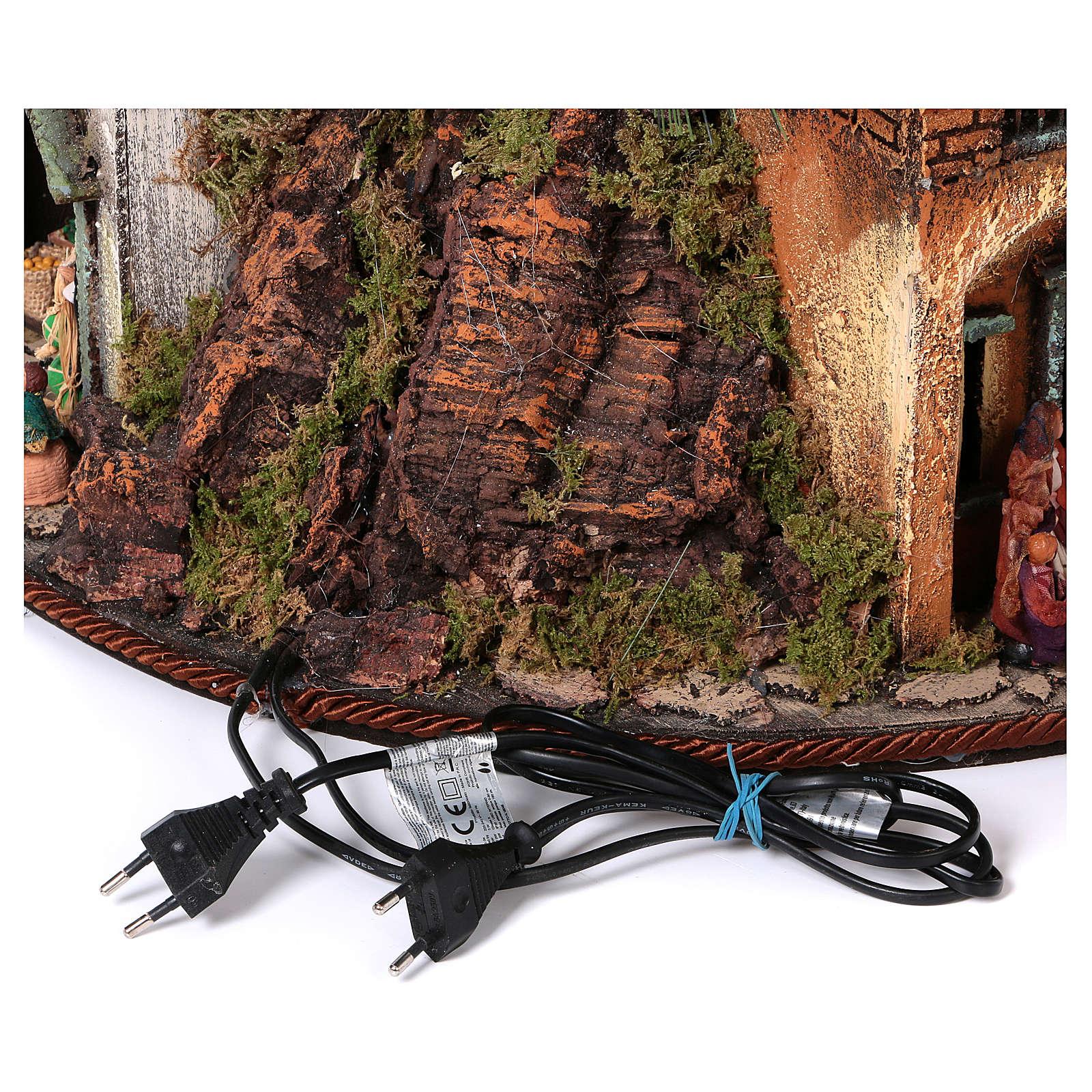Sapin-crèche 150 cm avec santons de 8 cm crèche napolitaine 4