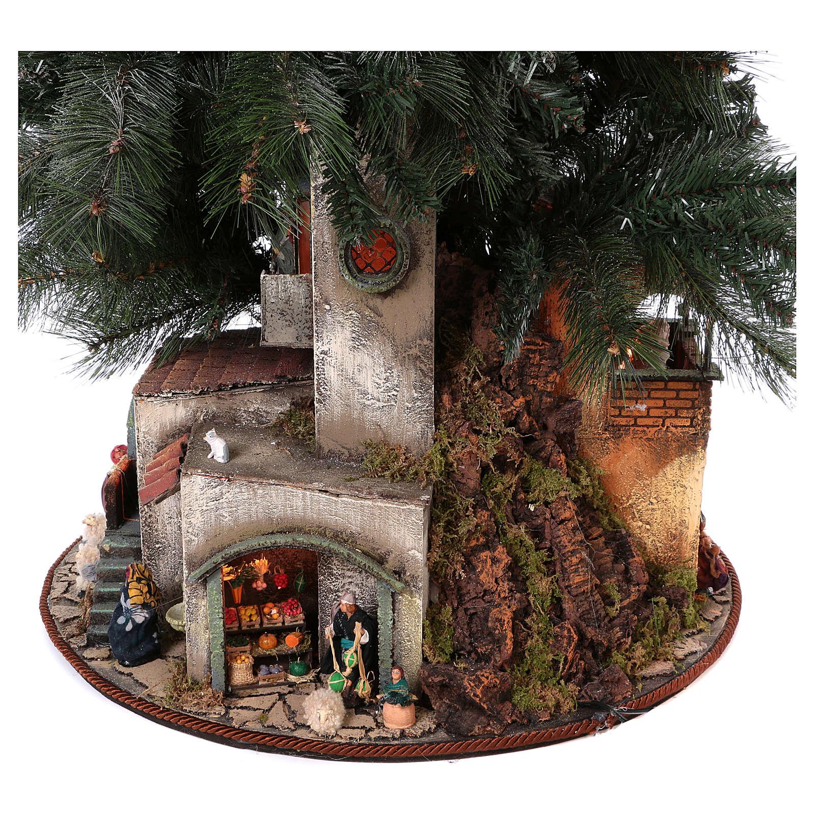 Presépio-Árvore de Natal 150 cm figuras altura média 8 cm Presépio Napolitano 4