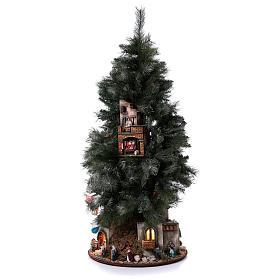 Presépio-Árvore de Natal 150 cm figuras altura média 8 cm Presépio Napolitano s3