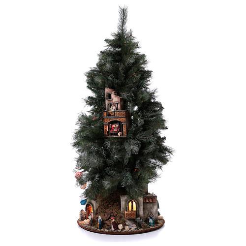 Presépio-Árvore de Natal 150 cm figuras altura média 8 cm Presépio Napolitano 3