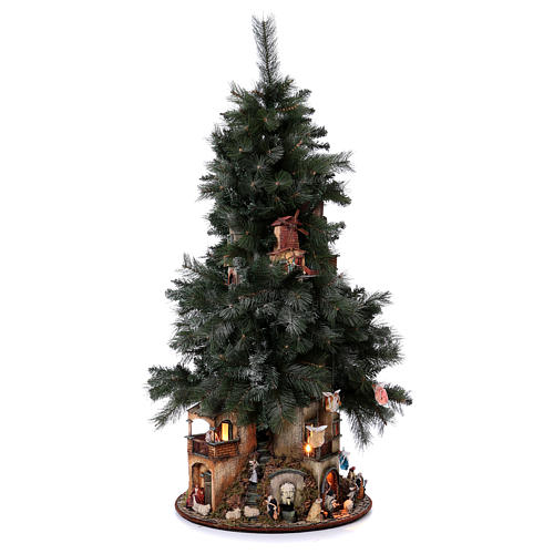 Presépio-Árvore de Natal 150 cm figuras altura média 8 cm Presépio Napolitano 5