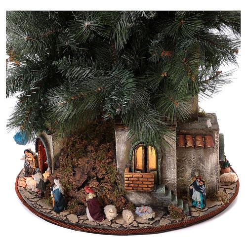 Presépio-Árvore de Natal 150 cm figuras altura média 8 cm Presépio Napolitano 7