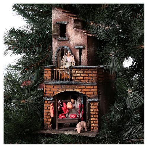 Presépio-Árvore de Natal 150 cm figuras altura média 8 cm Presépio Napolitano 9