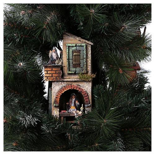 Presépio-Árvore de Natal 150 cm figuras altura média 8 cm Presépio Napolitano 10